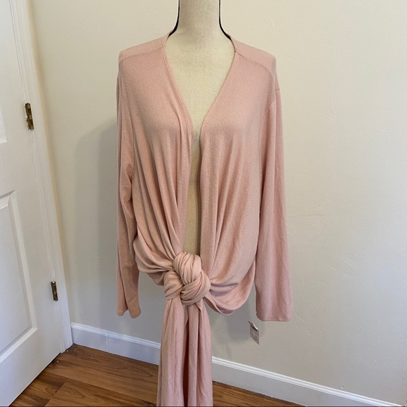 Gibson Tie-up Cardigan Sweater, size 3XL